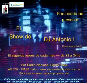 Afiche DJ Antonio I-temporada 2015