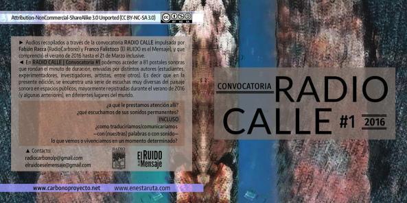 tapa y contratapa Radio Calle - central